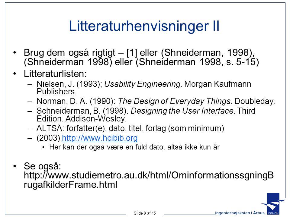 Litteraturhenvisninger II