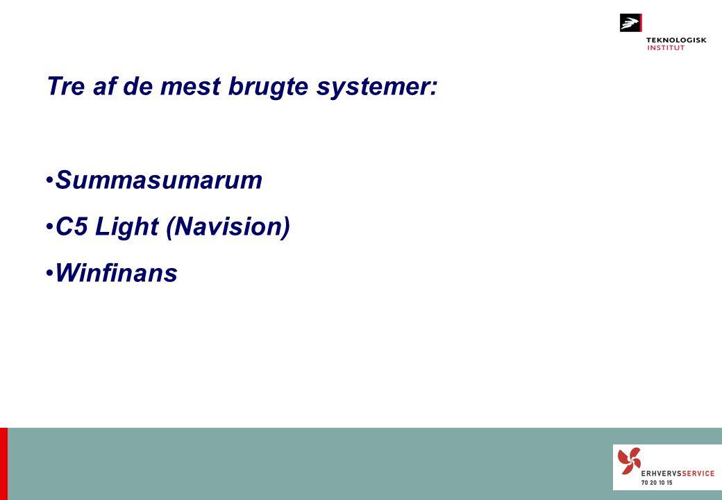 Tre af de mest brugte systemer: