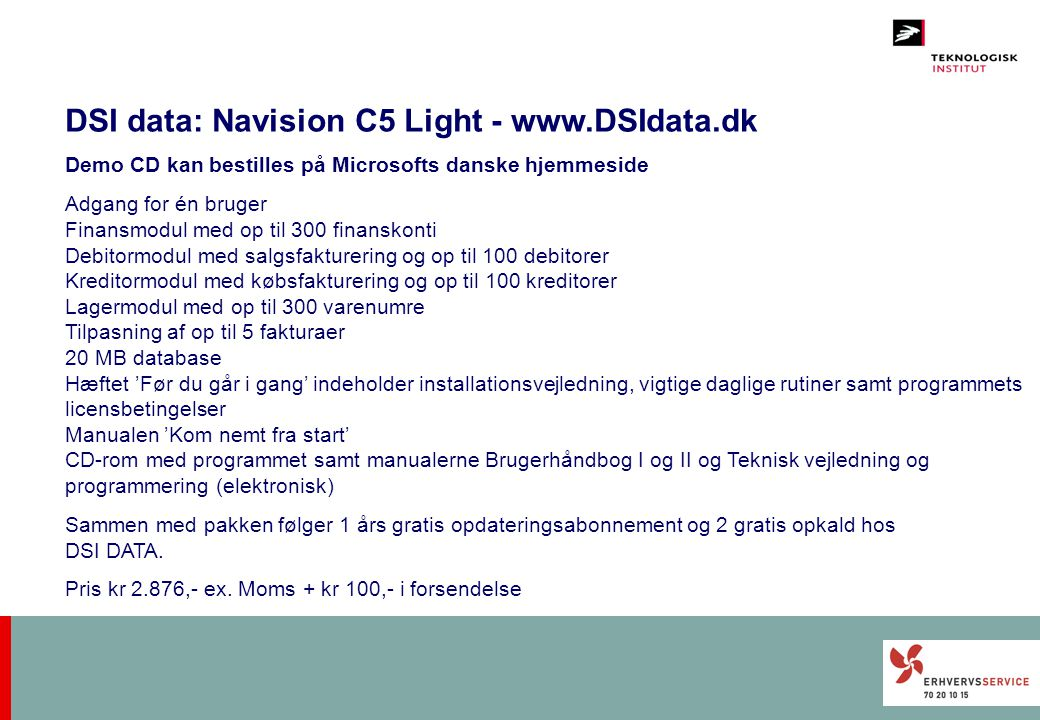 DSI data: Navision C5 Light - www.DSIdata.dk