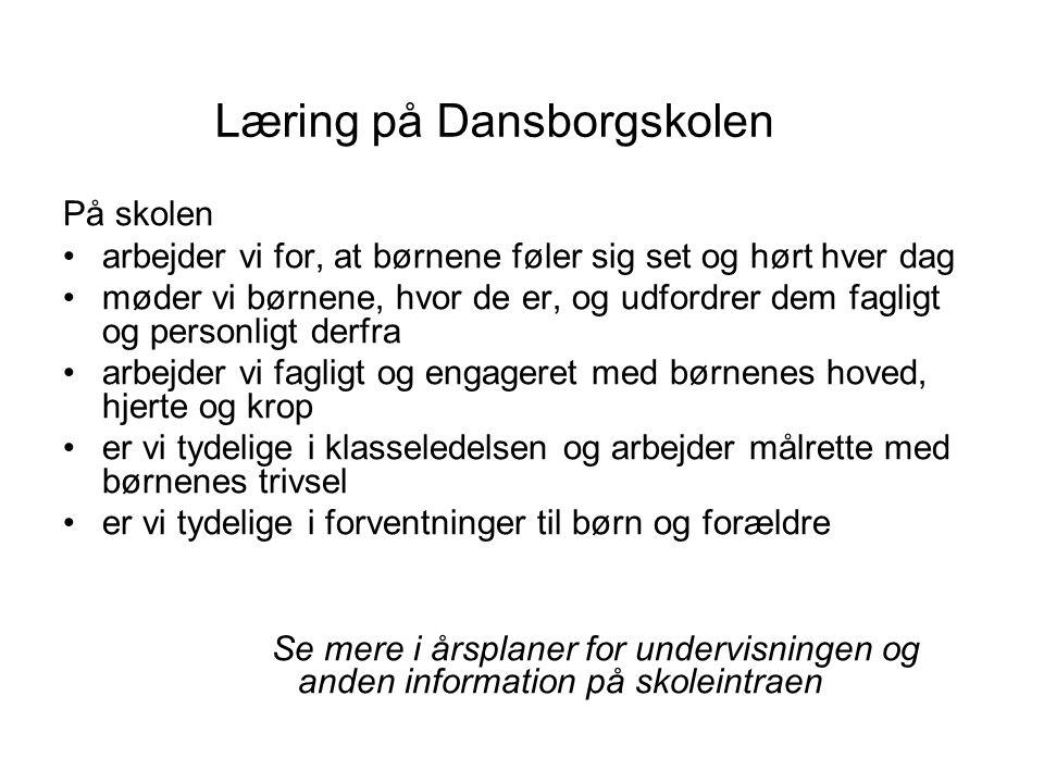 Læring på Dansborgskolen
