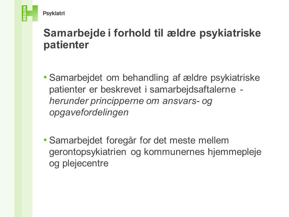 Samarbejde i forhold til ældre psykiatriske patienter