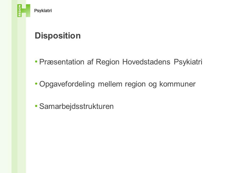 Disposition Præsentation af Region Hovedstadens Psykiatri