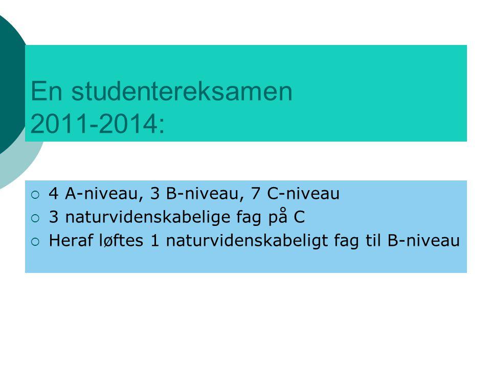 En studentereksamen 2011-2014: