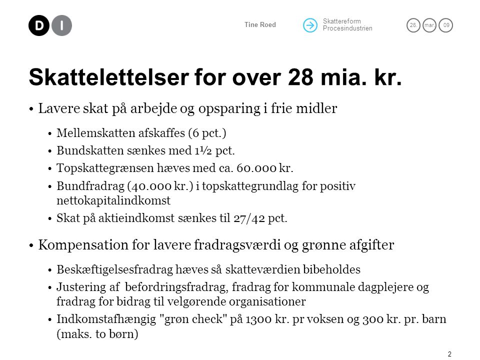 Skattelettelser for over 28 mia. kr.