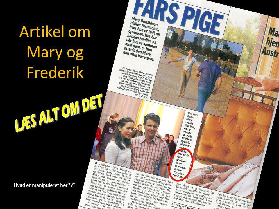 Artikel om Mary og Frederik