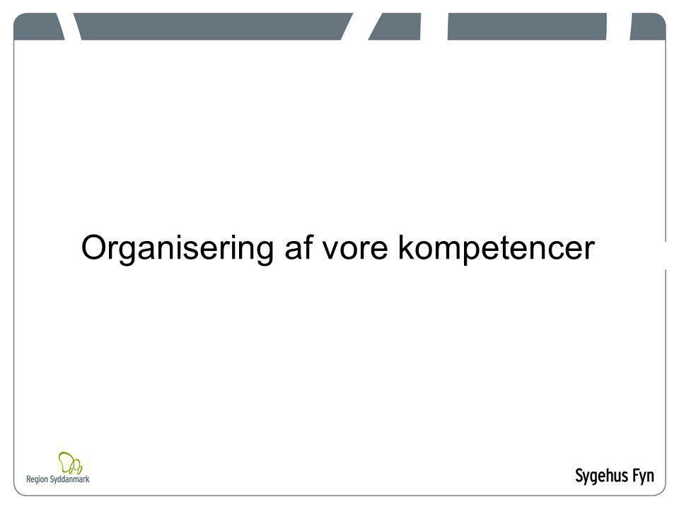 Organisering af vore kompetencer