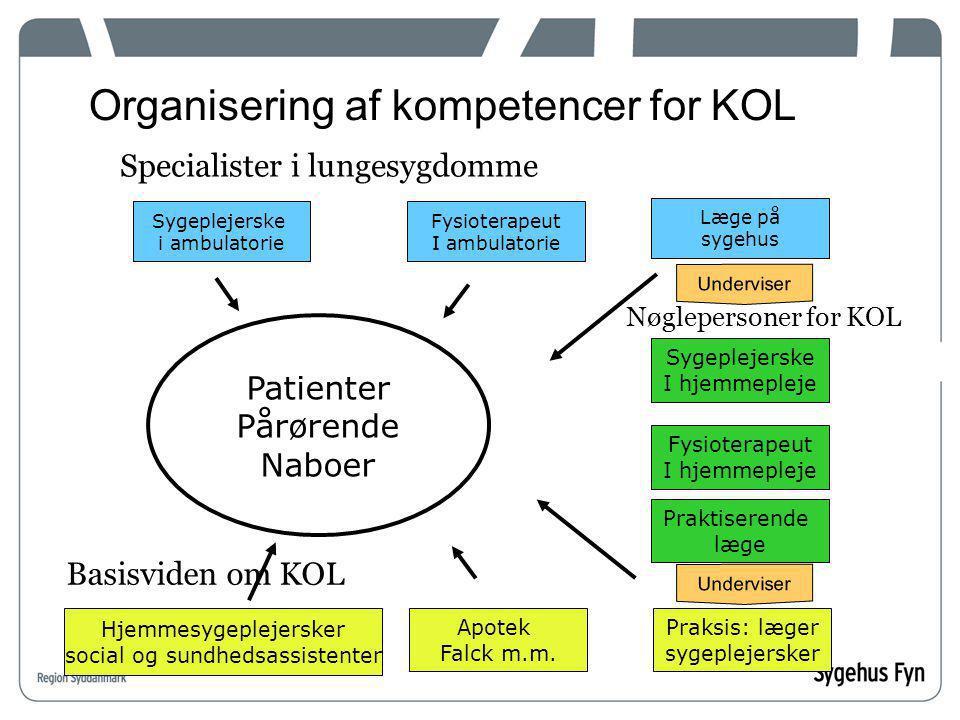 Organisering af kompetencer for KOL