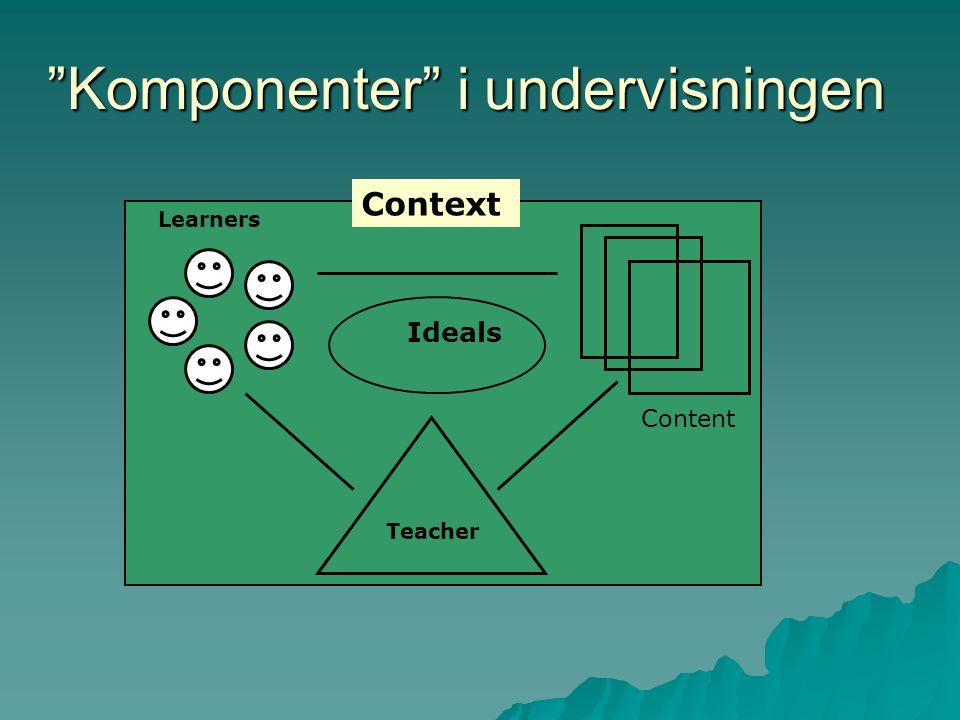 Komponenter i undervisningen