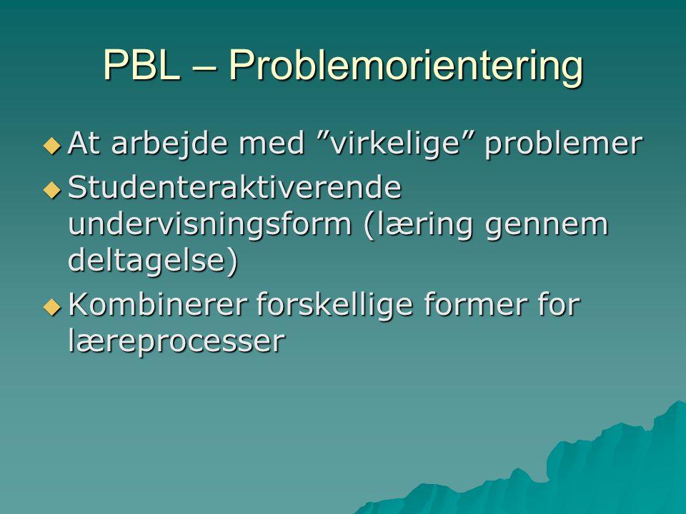 PBL – Problemorientering