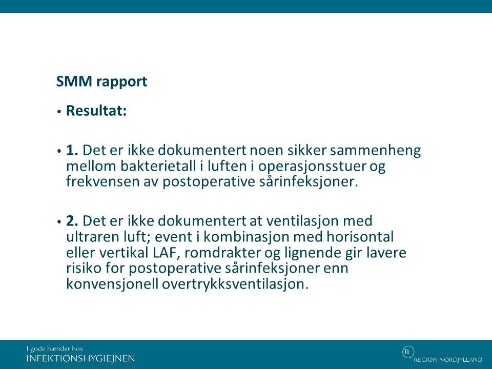SMM rapport Resultat: