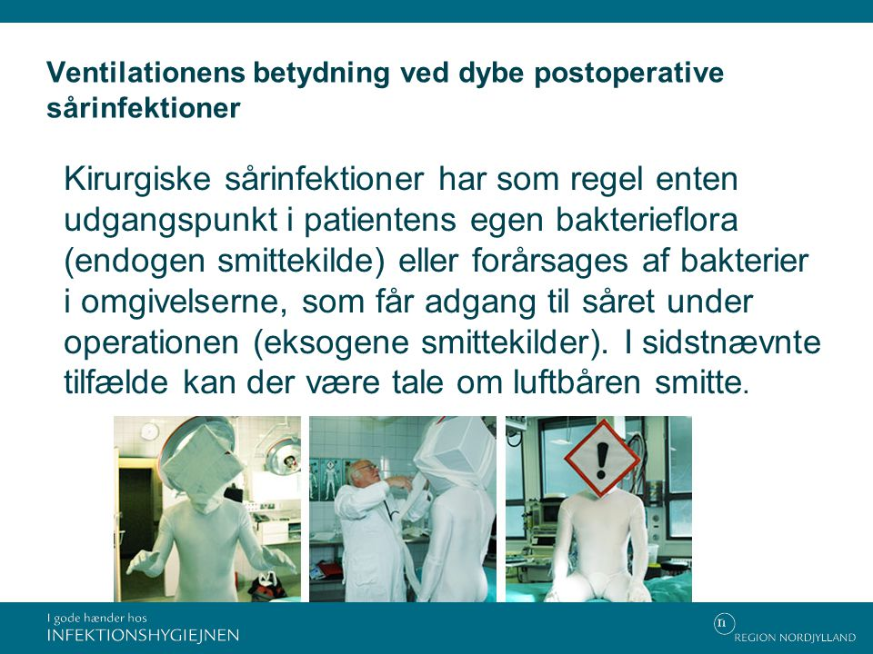 Ventilationens betydning ved dybe postoperative sårinfektioner