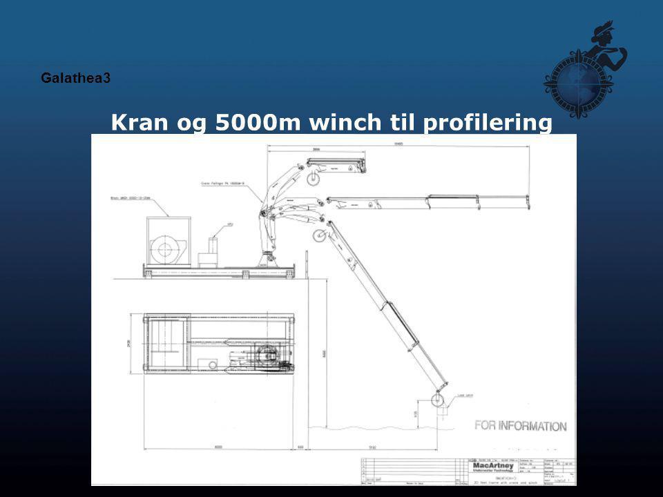 Kran og 5000m winch til profilering