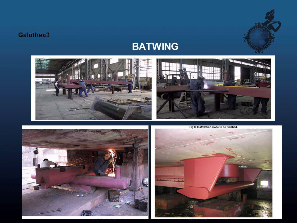 Galathea3 BATWING. Der installeres en multibeamen i forskibet med en ADCP (DANAs) og et 18 kHz dybhavsekkolod.