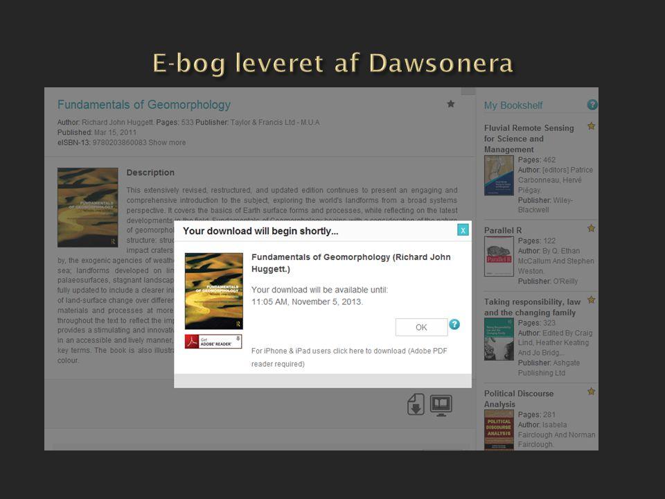 E-bog leveret af Dawsonera