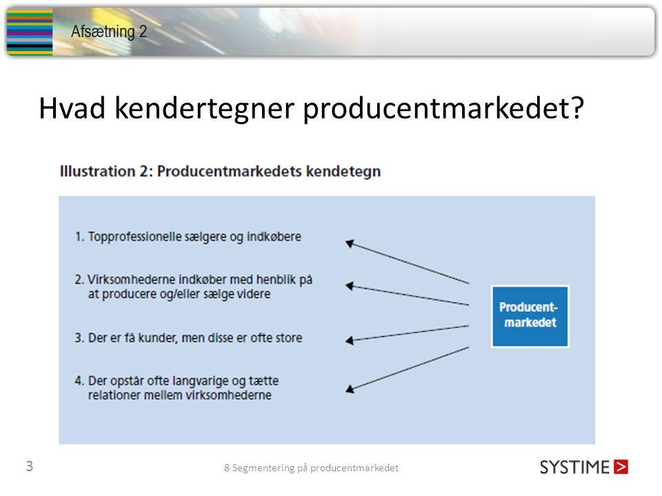 Hvad kendertegner producentmarkedet