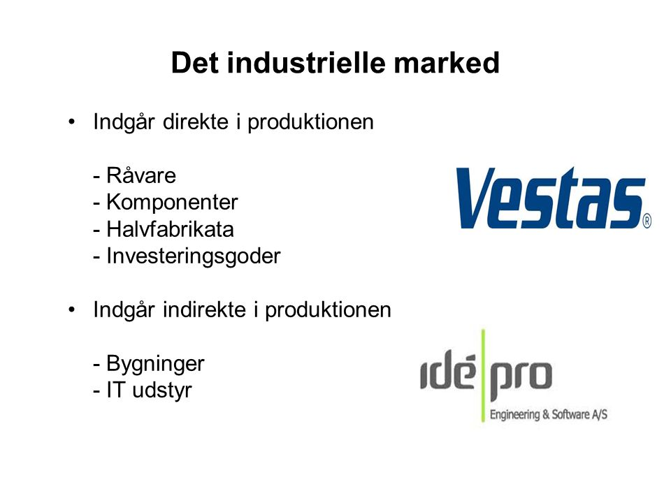 Det industrielle marked