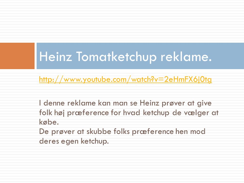 Heinz Tomatketchup reklame.