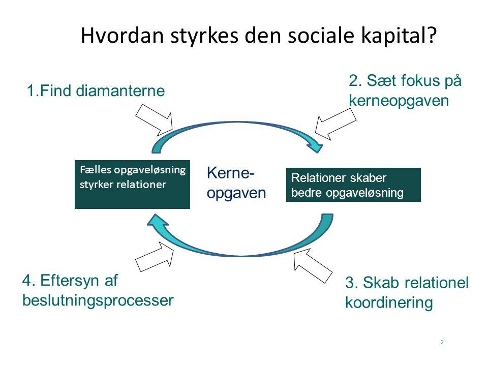 Hvordan styrkes den sociale kapital