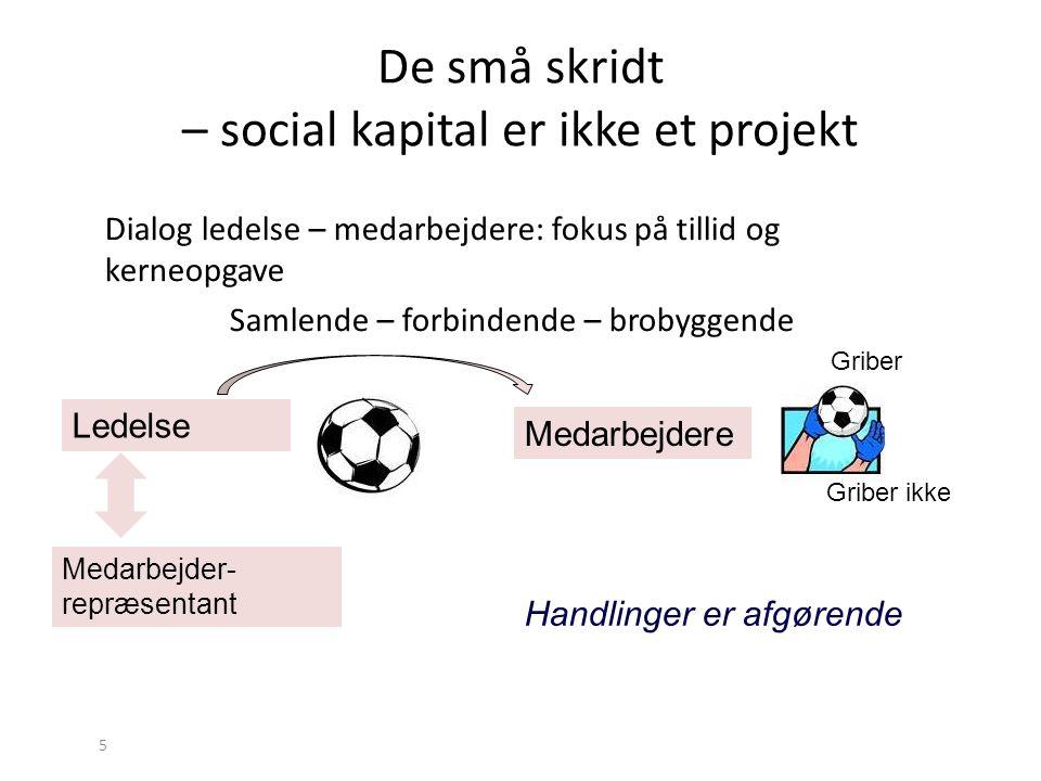 De små skridt – social kapital er ikke et projekt
