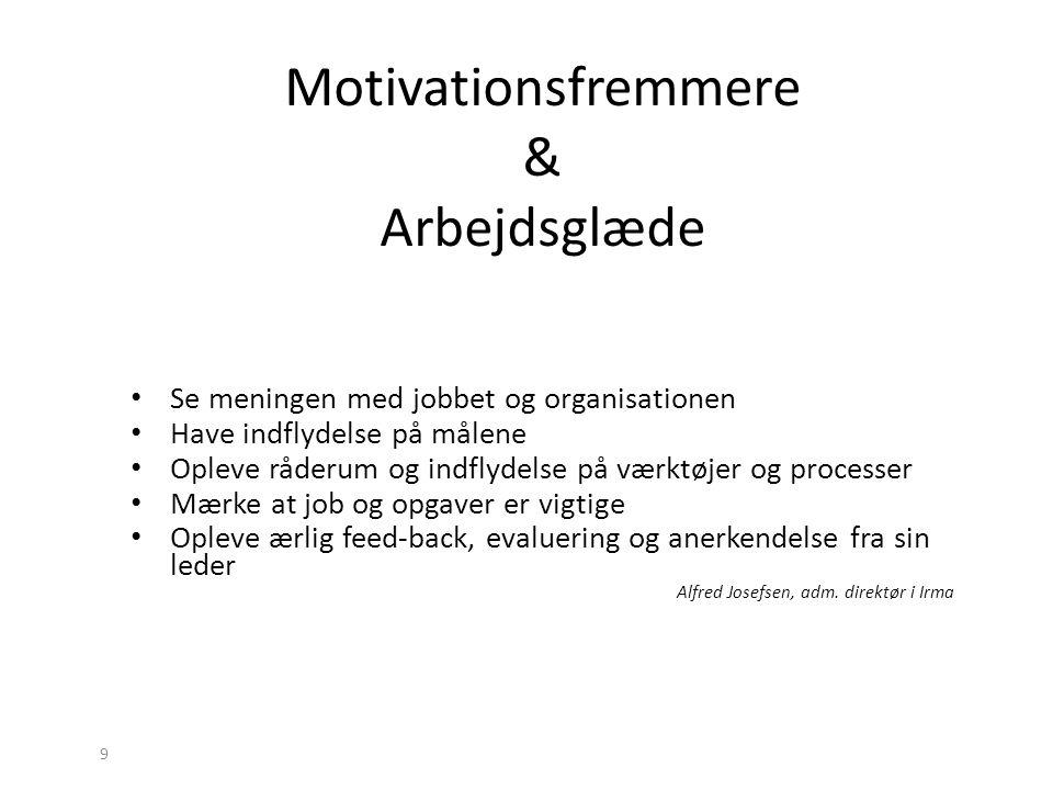 Motivationsfremmere & Arbejdsglæde