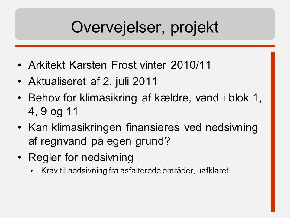Overvejelser, projekt Arkitekt Karsten Frost vinter 2010/11