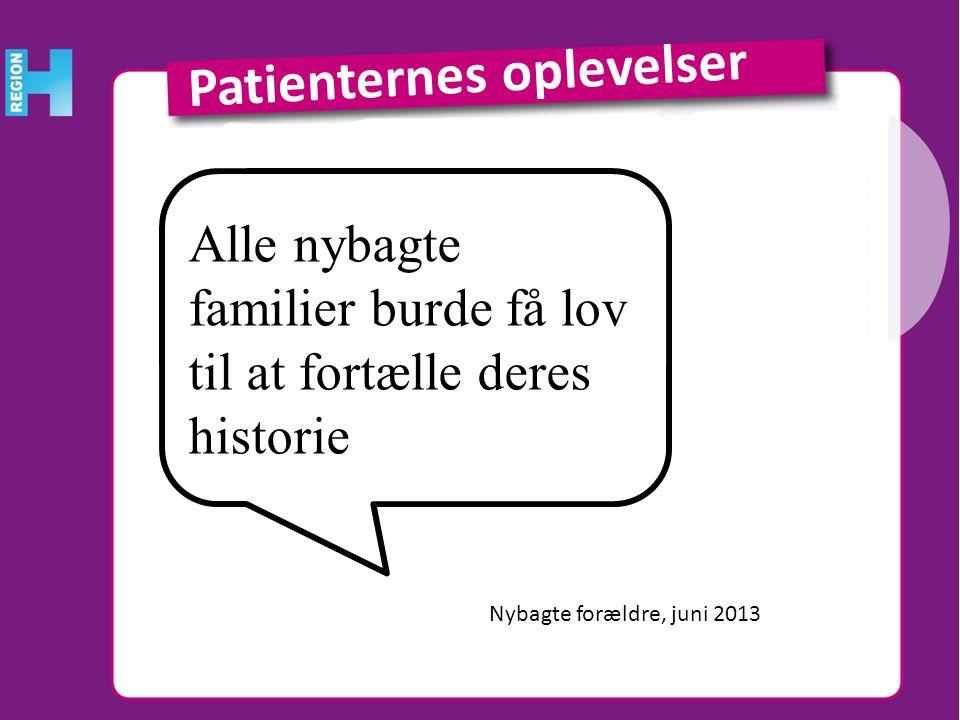 Patienternes oplevelser