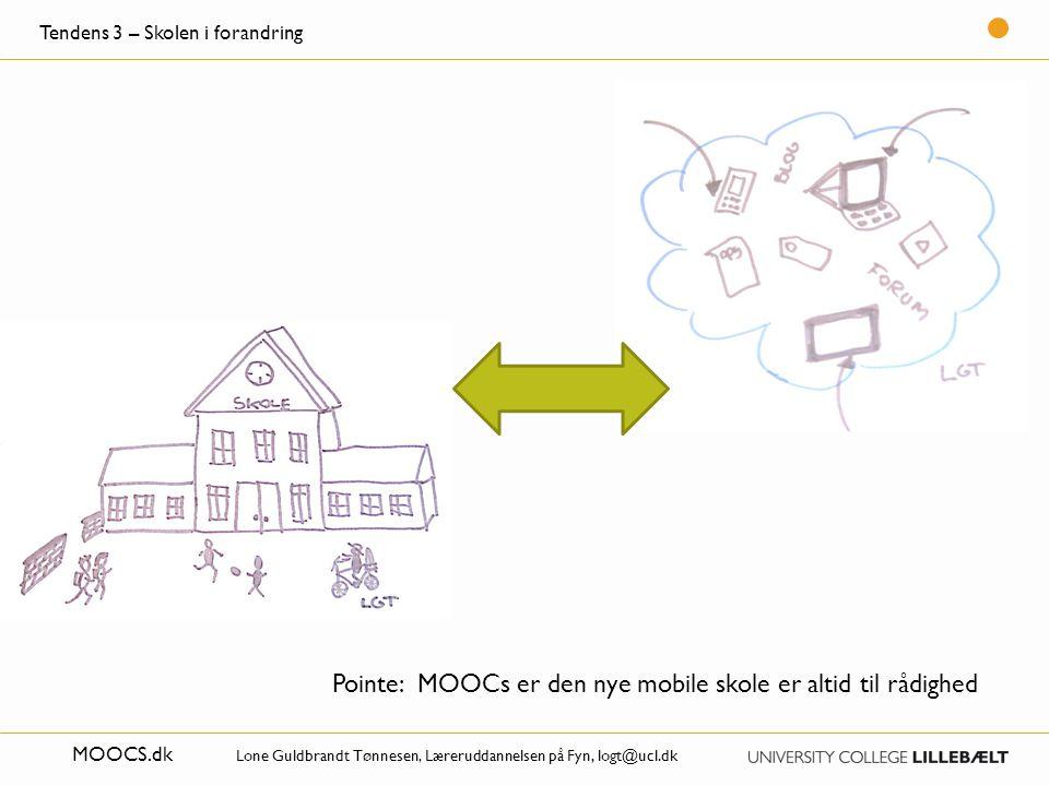 Pointe: MOOCs er den nye mobile skole er altid til rådighed