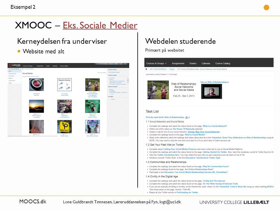 XMOOC – Eks. Sociale Medier