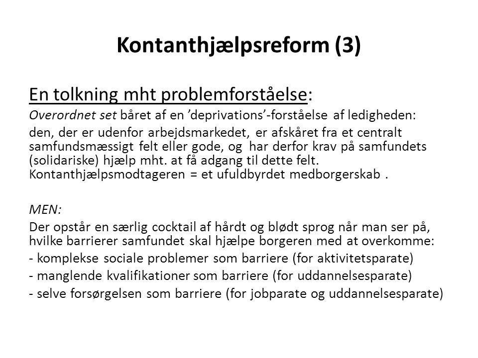 Kontanthjælpsreform (3)