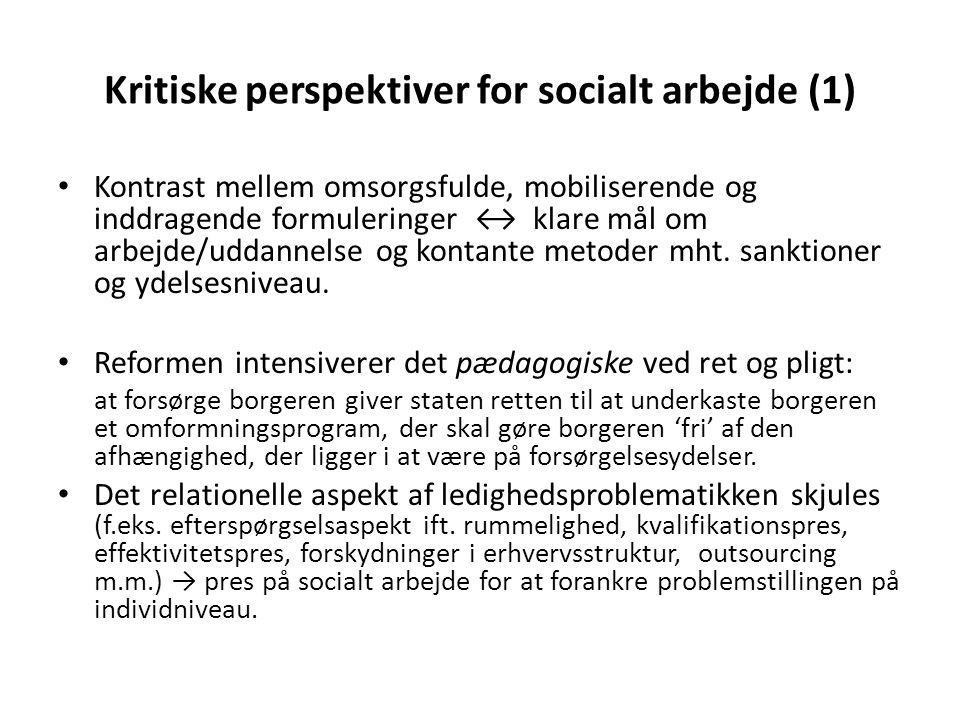 Kritiske perspektiver for socialt arbejde (1)