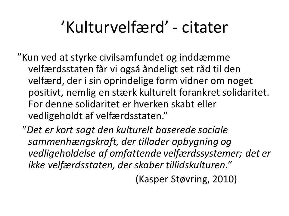 'Kulturvelfærd' - citater