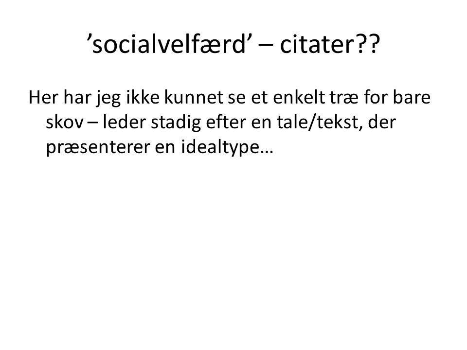 'socialvelfærd' – citater