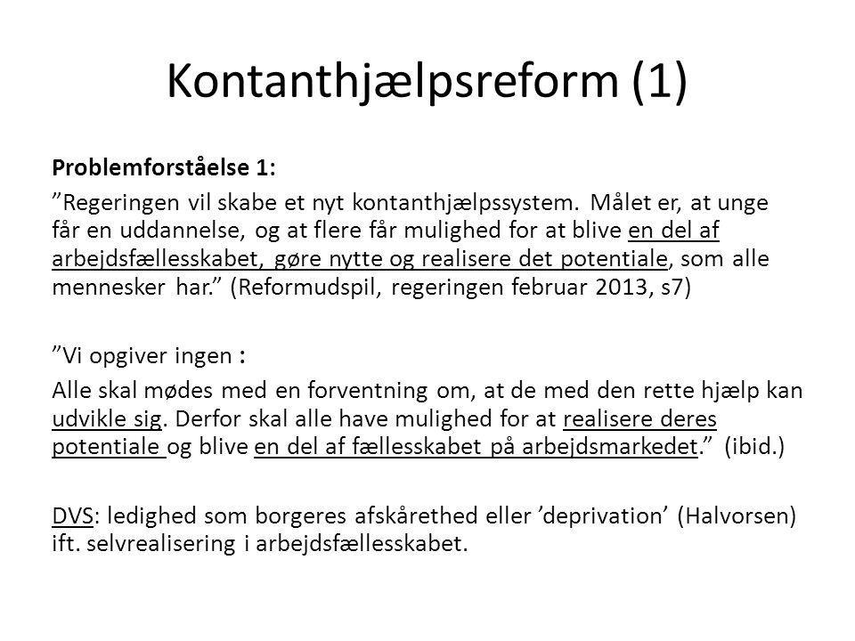 Kontanthjælpsreform (1)