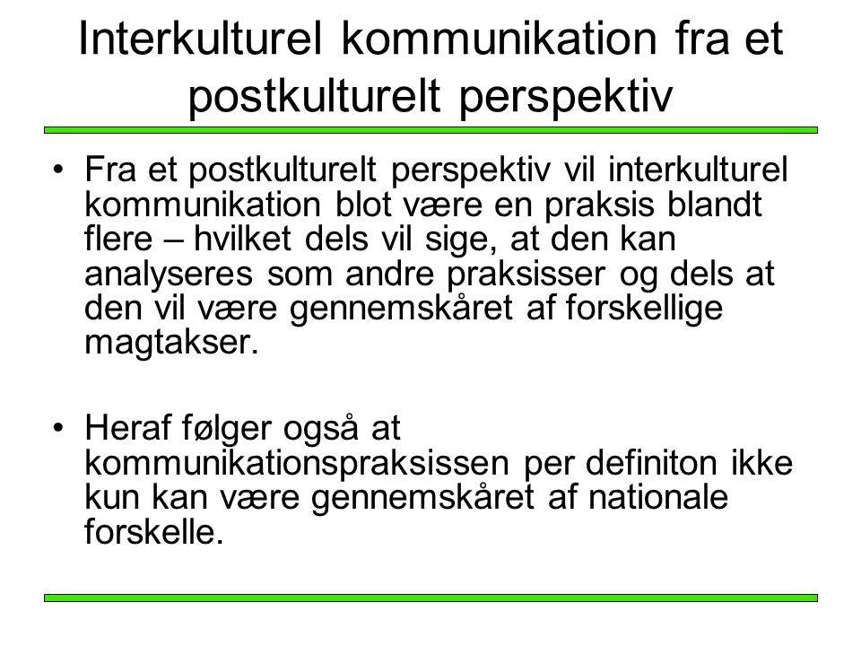 Interkulturel kommunikation fra et postkulturelt perspektiv