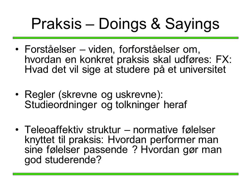 Praksis – Doings & Sayings