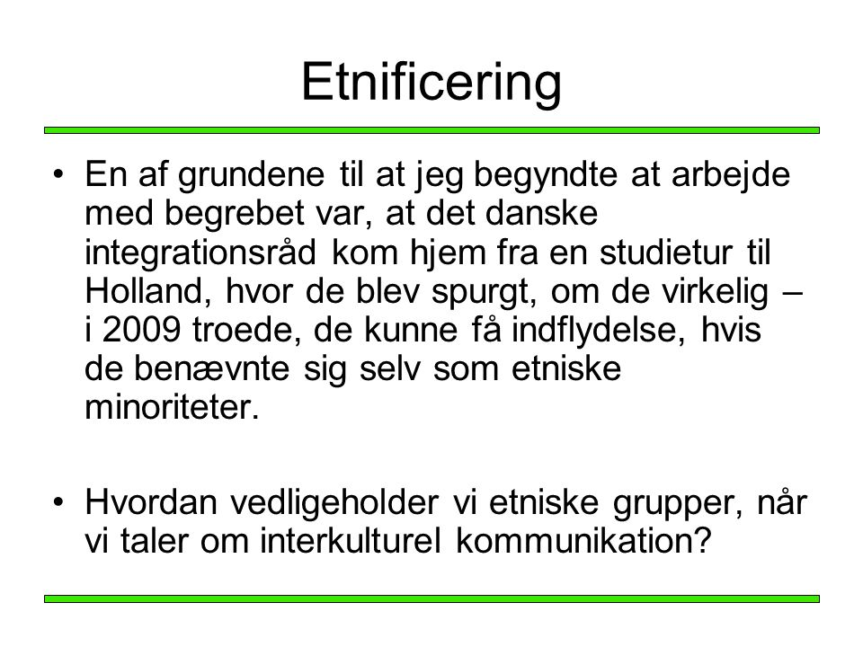 Etnificering