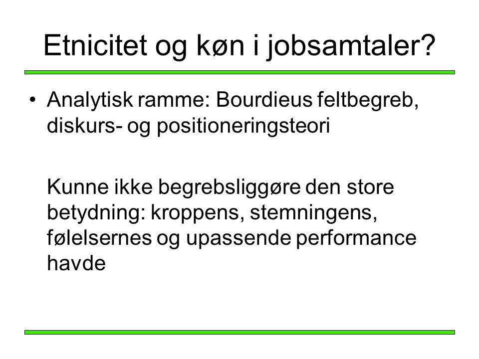 Etnicitet og køn i jobsamtaler