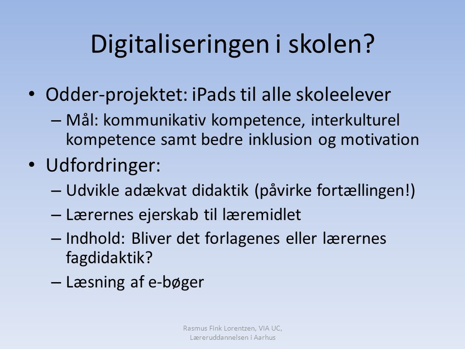 Digitaliseringen i skolen