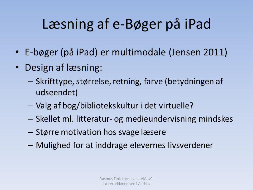 Læsning af e-Bøger på iPad