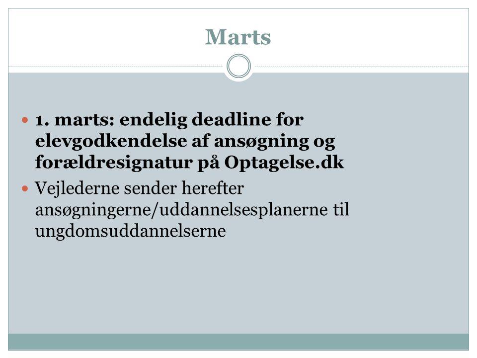 Marts 1. marts: endelig deadline for elevgodkendelse af ansøgning og forældresignatur på Optagelse.dk.