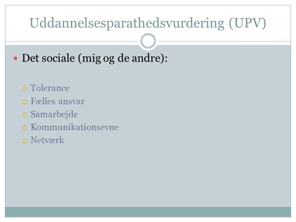 Uddannelsesparathedsvurdering (UPV)