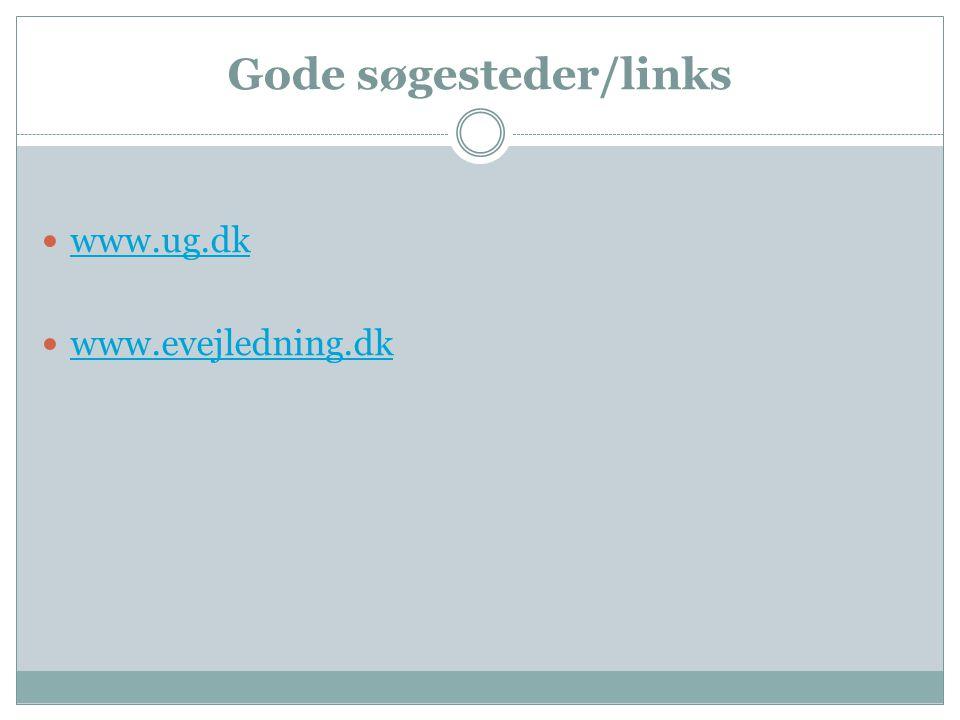 Gode søgesteder/links