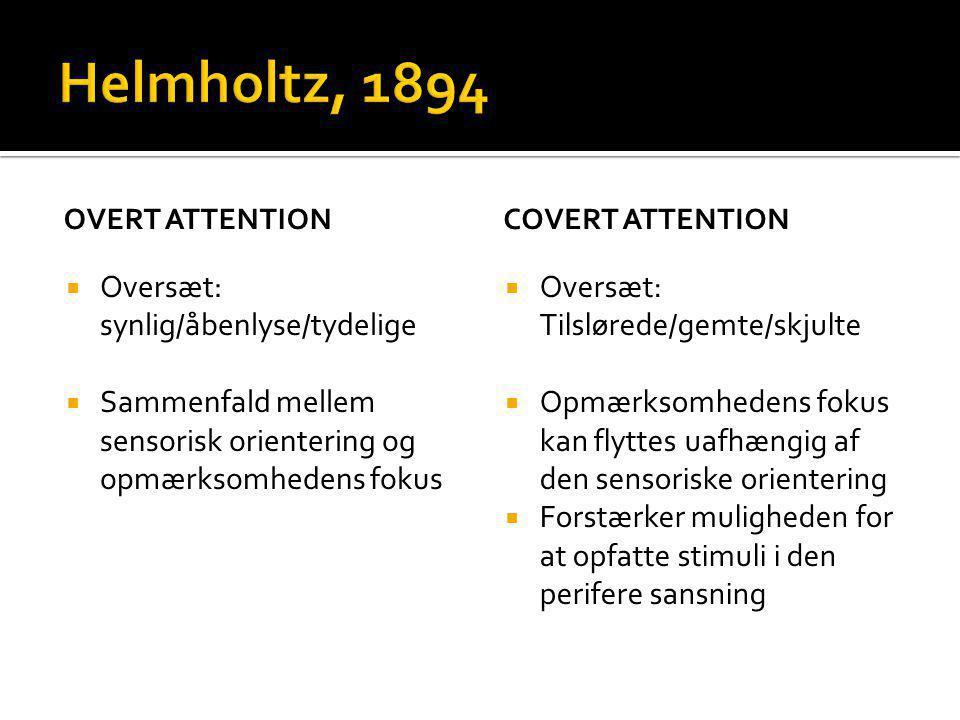 Helmholtz, 1894 Oversæt: synlig/åbenlyse/tydelige