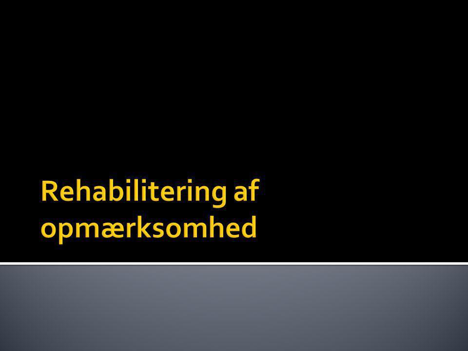 Rehabilitering af opmærksomhed