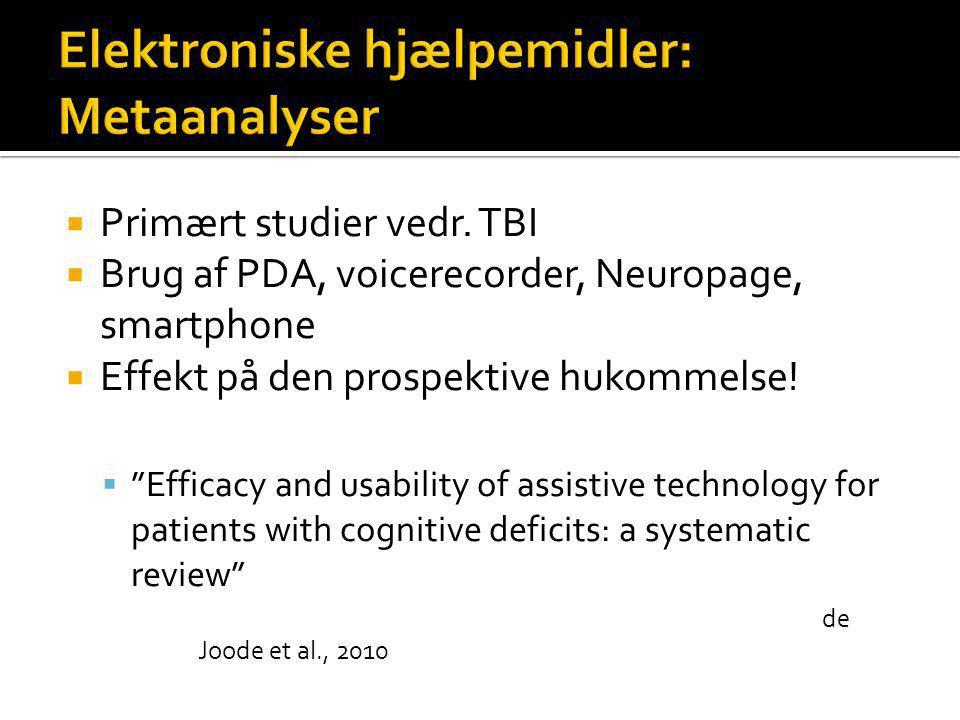 Elektroniske hjælpemidler: Metaanalyser