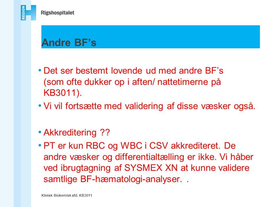 Andre BF's Det ser bestemt lovende ud med andre BF's (som ofte dukker op i aften/ nattetimerne på KB3011).