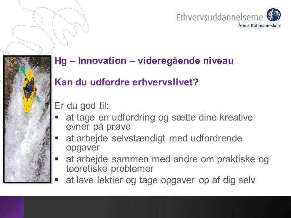 Hg – Innovation – videregående niveau