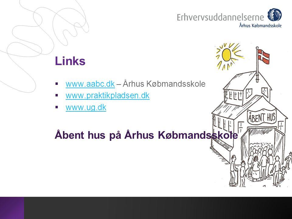 Links Åbent hus på Århus Købmandsskole