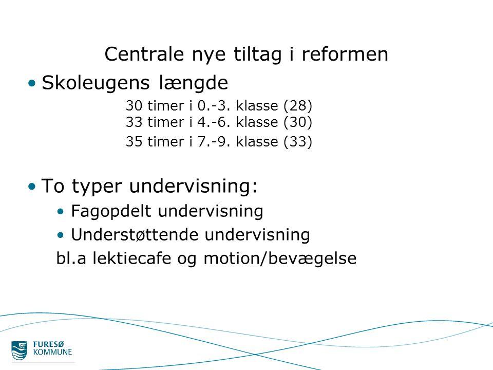 Centrale nye tiltag i reformen