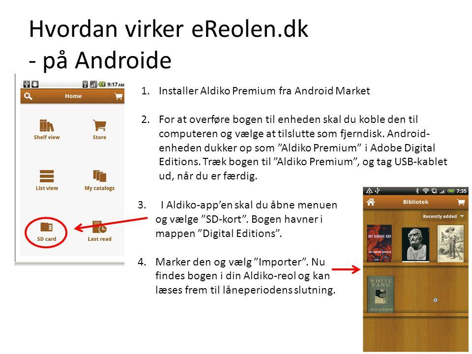 Hvordan virker eReolen.dk - på Androide